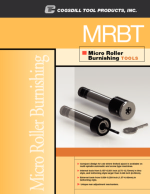 Micro Roller Burnishing Tools MRBT Brochure