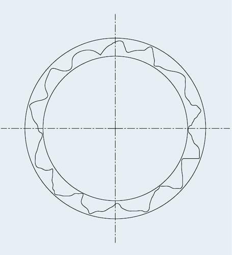 Géométrie de perçage typique avant l'alésage par Cogsdill