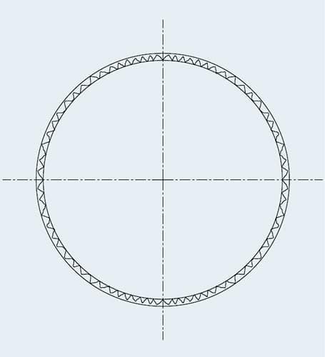 Géométrie du trou après avoir été alésé par shefcut reaming par cogsdill