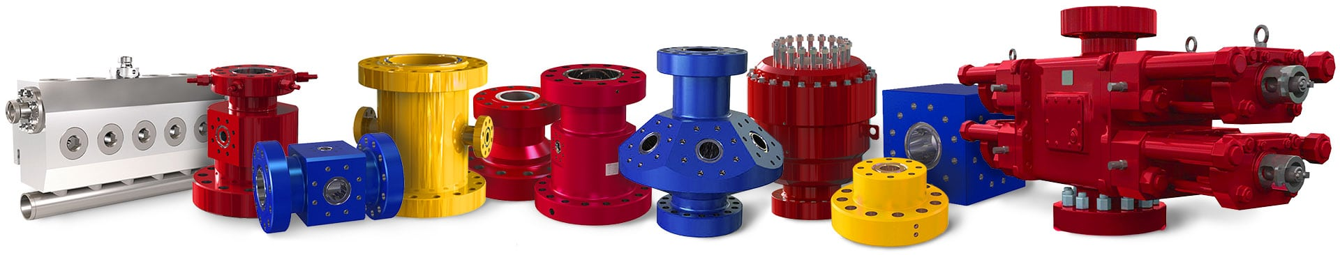 oil gas components with BOP