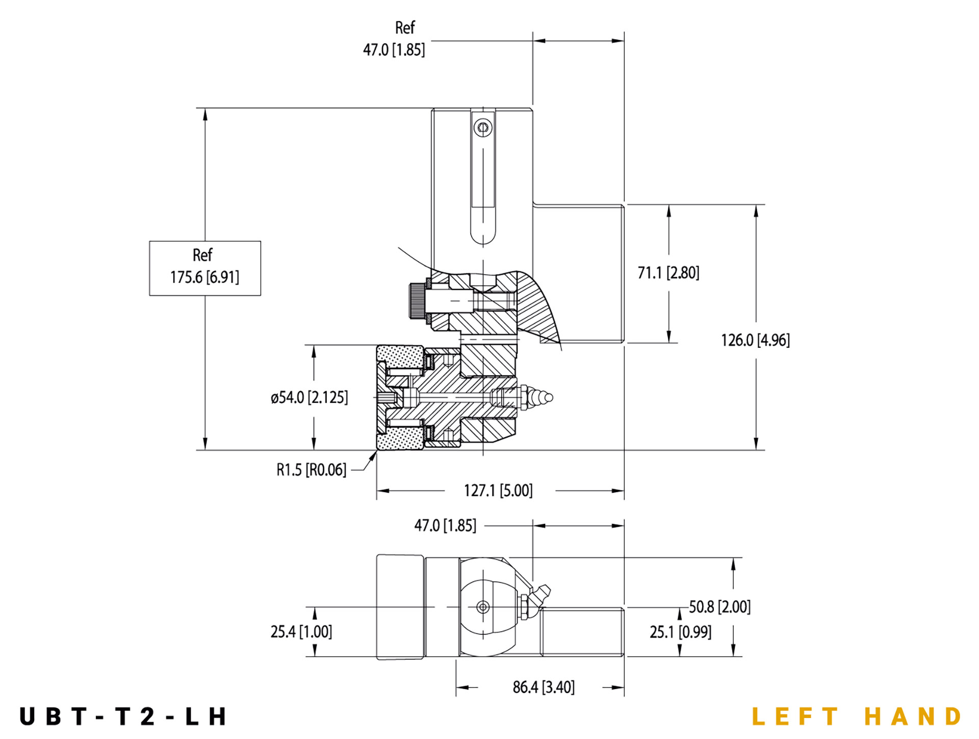 UBT-T2 LH specifications