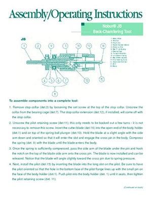 Instruction Sheet Nobur JB Tool