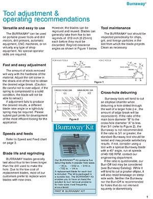 Burraway BurrOff Operating Instructions