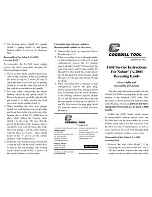 JA-2000 Field Service Instructions