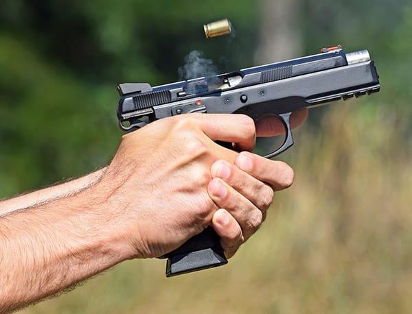 pistol eject shell